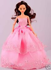 Handwork soft Princess Party Dress/Evening Clothes/Gown For Barbie Doll  1068