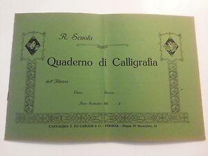 QUADERNO DI CALLIGRAFIA - ANNI 20 - SCUOLA
