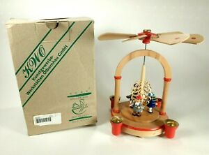 """Erzgebirge Christmas Pyramid German Wood Carousel 8"""" Missing Pieces FOR PARTS"""
