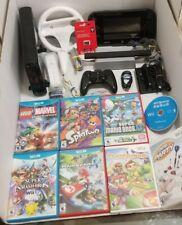 Nintendo Wii U 32gb Console Bundle Mario Kart 8 Smash Splatoon Super Bros U VGC