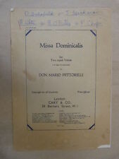VOCAL SCORE Don Mario Pettorelli MISSA dominicalis