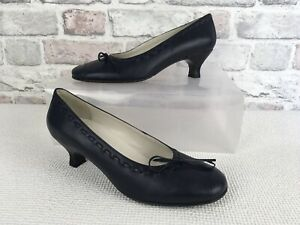 Ladies Hotter Navy Blue French Heel Panache Jag 0042 Shoes Size UK 5 EU 38