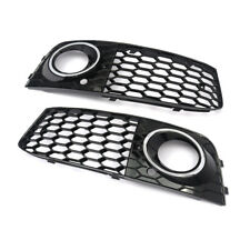 1Pair Honeycomb Mesh Fog Light Lamp Grill Grille Cover For Audi A4 B8 2009-2012