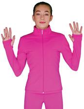 Chloenoel solid fleece fitted jacket w/thumb holes