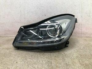 12-14 Mercedes Benz C250 C300 Left Driver Side Xenon HID Headlight Bare OEM