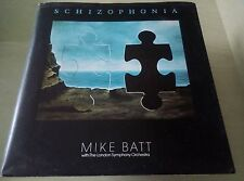 MIKE BATT with LSO - Schizophonia LP With Wrap Round Cover & INFO Sheet
