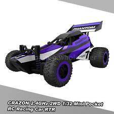 CRAZON 1/32 Mini Pocket RC Racing Car 2.4GHz 2WD RTR Buggy RC Stunt Car Toy R0J9