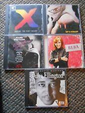 Random Mixed Lot 5 CDs Reba Aerosmith Duke Ellington Dorian Robert Whittaker