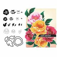 Beautiful Flowers Metal Cutting Dies And Stamps Embossing Scrapbooking Stencil