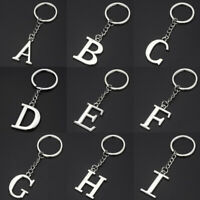 Letter A-Z Keychain Metal Key Ring Chain Holder Handbag Pendant Decor Jewelry