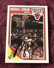 Michael Jordan Autographed 1989 Fleer Trading Card GOAT JSA LOA BULLS LAST DANCE