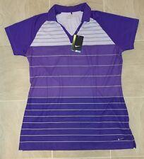 NWT Nike Golf Womens XL Purple DRI FIT Tour Performance Polo Shirt L Tall $65