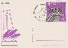 Poland postmark WARSZAWA - concentration camp, WW II MAJDANEK