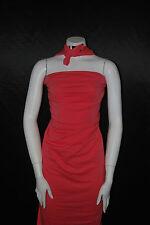 Cotton Jersey Lycra  Knit Fabric 4 ways spandex Very Soft  Coral color 8.5-9 oz