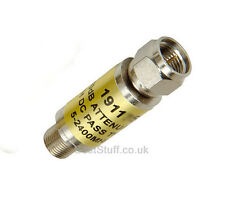 Labgear 3dB Inline Satellite Attenuator F connector Male to Female