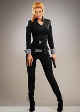Womens Black Widow Style Spy Adult Fancy Dress Costume