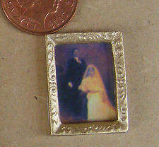 1:12 Scale Victorian Wedding Picture In A Frame Dolls House Painting Accessory