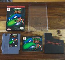 Teenage Mutant Ninja Turtles: Tournament Fighters NES CIB Complete Box Manual
