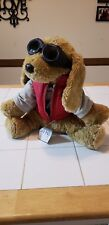 """NEW AE Performance Dog Goggles Gray Hoodie Red Vest 14"""" Plush NWT"""