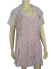 Pretty Angel PLUS SIZE Mauve Vintage Lace TUNIC TOP  NWT AX10702  1X