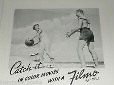 1938 Bell & Howell ad, Filmo movie camera, Filmo 8mm