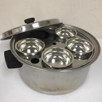 Princess Stainless steel Tri Ply Stock Pot Poached Egg Holder Insert Missing 1