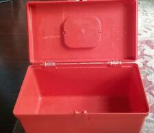VINTAGE Wilson Wil-Hold Plastic Sewing Box BRIGHT ORANGE LARGE 12 x 7 x 7
