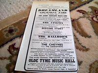 67-6 ephemera 1964 advert dreamland margate cheynes companions bedtime story