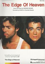 "WHAM!-GEORGE MICHAEL ""THE EDGE OF HEAVEN"" SHEET MUSIC-1985-RARE-BRAND NEW-MINT!!"