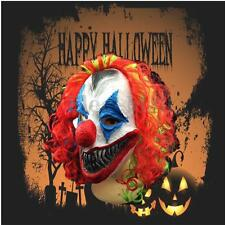 Halloween Mask Creepy Clown Head Adult Costume Party Fancy Prop Scary Horror