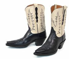 Billy Martins Justin Classic Black Bone Cowboy Boots Woman's sz 7B New Unworn