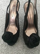 NEW DOROTHY PERKINS SMART FLORAL SATIN STYLE STILETTO/SANDAL-WEDDING! 6 RRP£32