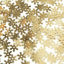 Snowflake Sequin 10mm Gold Metallic Shiny Delicate Twinkle Flake Made in USA
