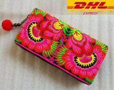 Thai Hmong Hill Tribe Unique Handmade Embroidered Purse Clutch Wallet Handbags
