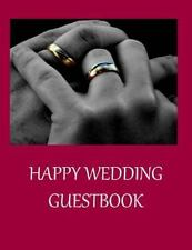 Happy Wedding Guestbook by Lazaros' Blank Books (2016, Paperback)