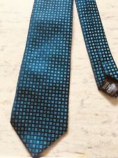 """Next blue small square check smart polyester tie 3.25"""" wide 58"""" long"""