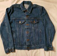 Vintage Genuine Sears Roebucks Men S/M Denim Jacket Trucker Blue Jean 12 6A