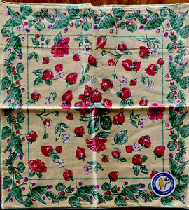 NEW April Cornell Pillow Cover 100% Cotton Strawberry Floral INDIA