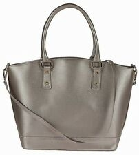 Genuine leather woman handbag + strap tote shoulderbag hobo. Made in Italy. GOLD