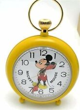 Disney Bradley Mickey Mouse Clock wind up Alarm Clock HTF