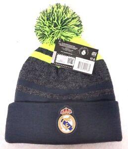 Real Madrid FC Cuffed Beanie Winter Hat Cap W/Pom New W/Tags OSFM 2015/16 Style