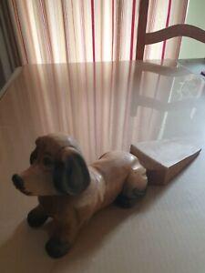Wooden Dog Doorstop Wedge...30cm Long..ex Con