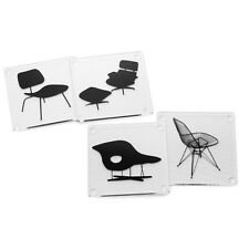 Eames Designer Chairs Coasters MoMA Museum of Modern Art Set of 4 in Gift Box