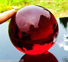 40mm + Stand Asian Rare Natural Quartz red Magic Crystal Healing Ball Sphere