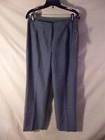 "NEW Evan-Picone Women's Indigo Blue Separate Pants Straight Leg Twill-sz 6 x32"""