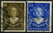 Netherlands 1948 SG#672-3 Coronation Used Set #D71555