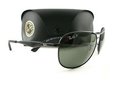 Ray-Ban Sunglasses RB3519 Black Green Polarized 006/9A New Authentic