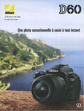 NIKON brochure pub. D60 édition 01/2008 en français