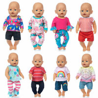 Baby Re-born Doll 17 Inch Doll Clothes Spring New Clothes Set Fit For 43cm