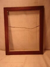 Antique solid Oak frame 21 1/2 x 17 1/2 holds 18 1/2 x 14 1/2 molding 2""